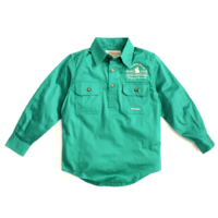 Boys Lachlan Shirt - Dark Green