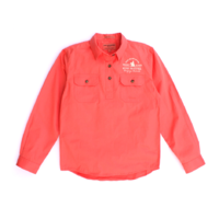Girls Kenzie Shirt - Hot Coral