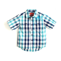 Boys Dave Check Shirt - Blue River