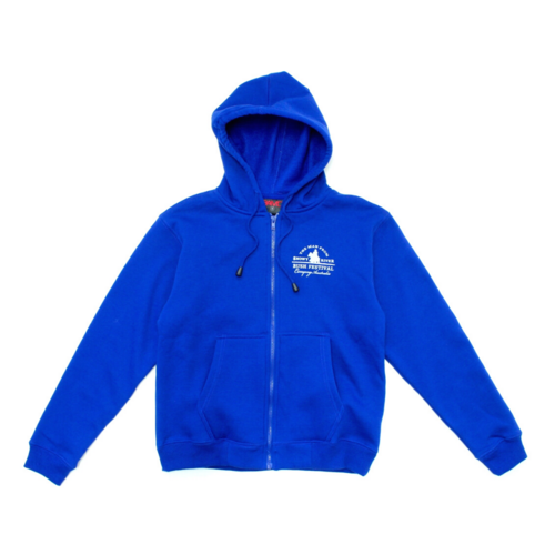 Womens Fleecy Zip Hoodie - Royal Blue