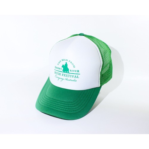 Trucker Cap - White/Emerald