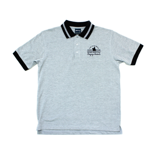 Mens Bird Eye polo - Charcoal