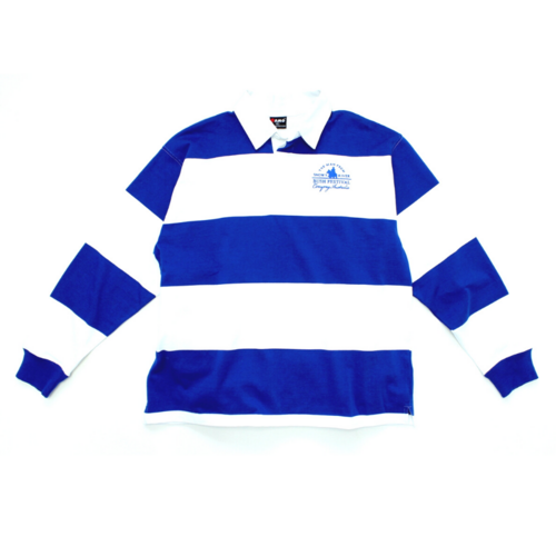 Mens Stripe Rugby - Royal / White