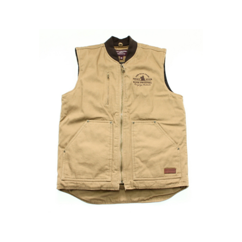 Mens Diamantina Canvas Vest - Khaki