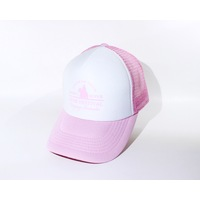 Trucker Cap - White/Pink